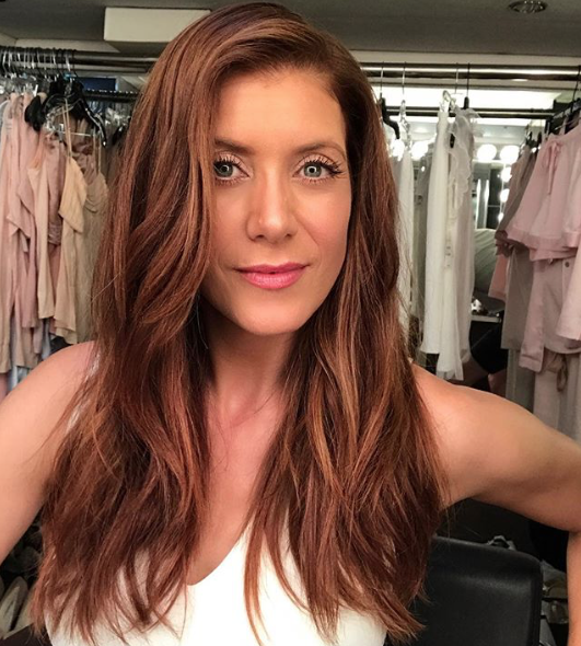 "kate walsh - Maintaining her famous red locks is also important to Walsh. ""I have to get my roots done about every three weeks if I'm being honest and I use a cleansing conditioner that's sulfate-free and doesn't dry my hair out or strip the color,"" she reveals."