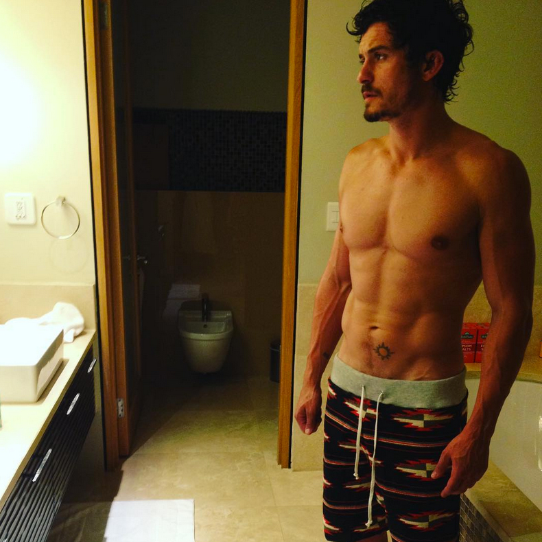 """katy perry orlando bloom comments instagram - The """"California Gurls"""" songstress swooned over a photo of her boyfriend's abs on Instagram. """"Oh hey! I was actually looking for a washboard to do me laundry on,"""" she commented."""