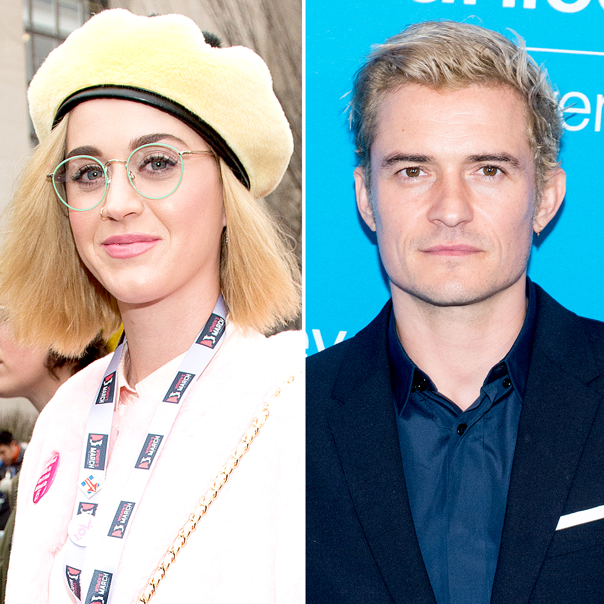 katy-perry-orlando-bloom-blonde - Perry and Bloom debuted their matching, newly dyed blond hair.