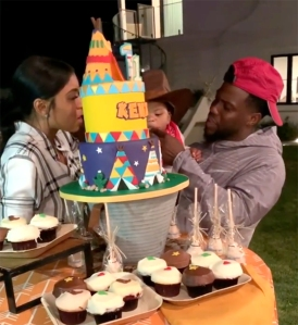 Kevin Hart and Eniko Parrish birthday party