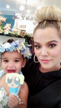 Dream Kardashian with Aunt Khloe Kardashian