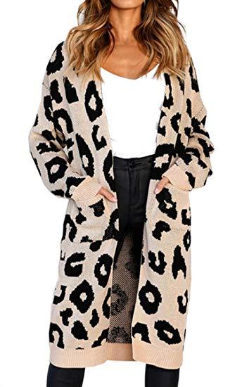 cárdigan con estampado de leopardo