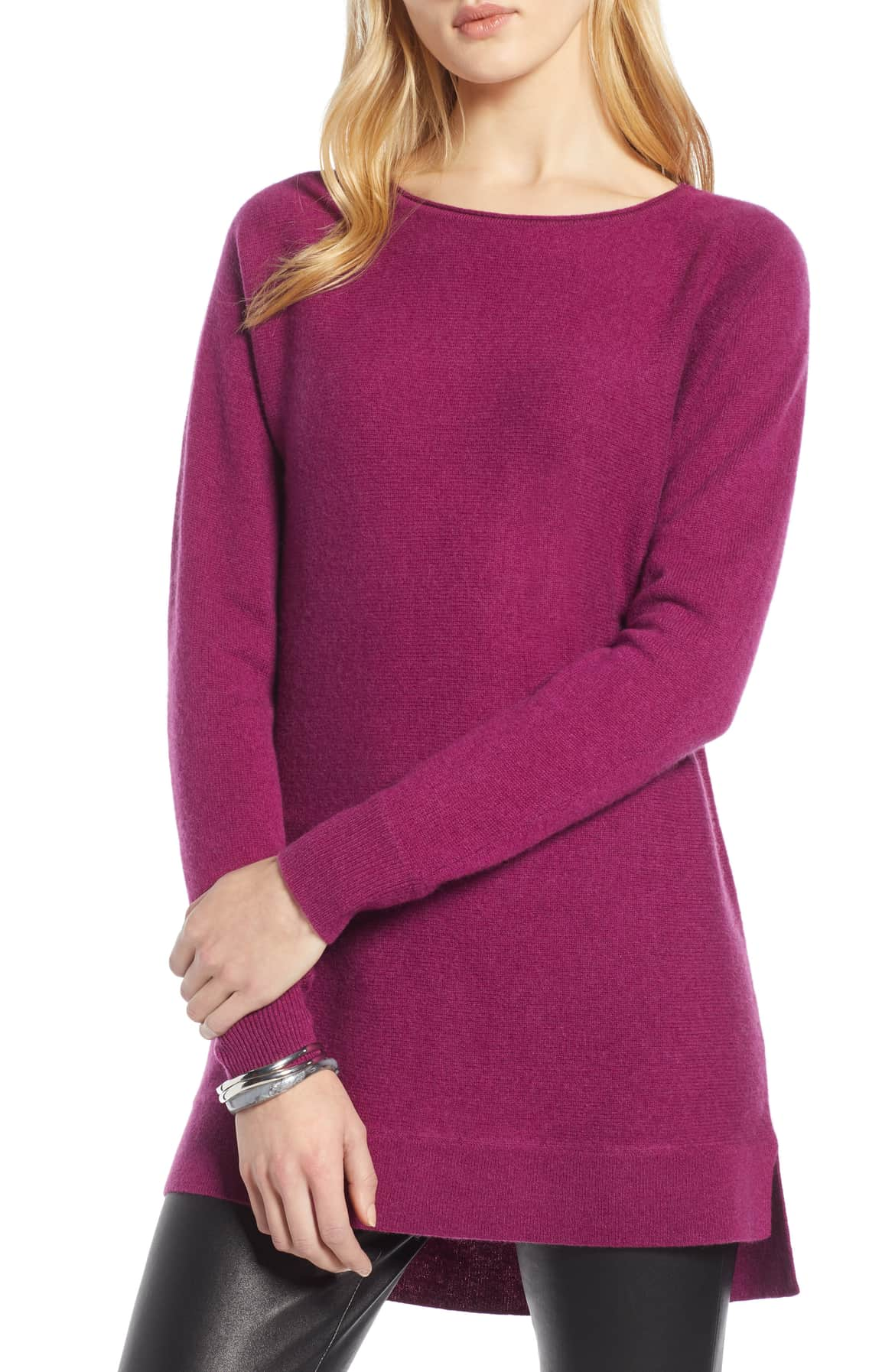 magenta sweater cashmere and wool