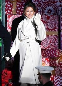 Melania Trump Winter White Holiday National Christmas Tree Lighting