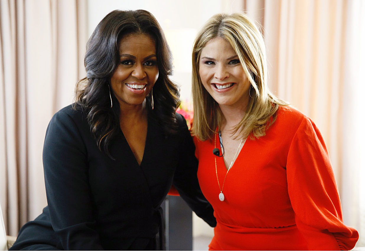 Michelle Obama Jenna Bush Hager NBC News' TODAY