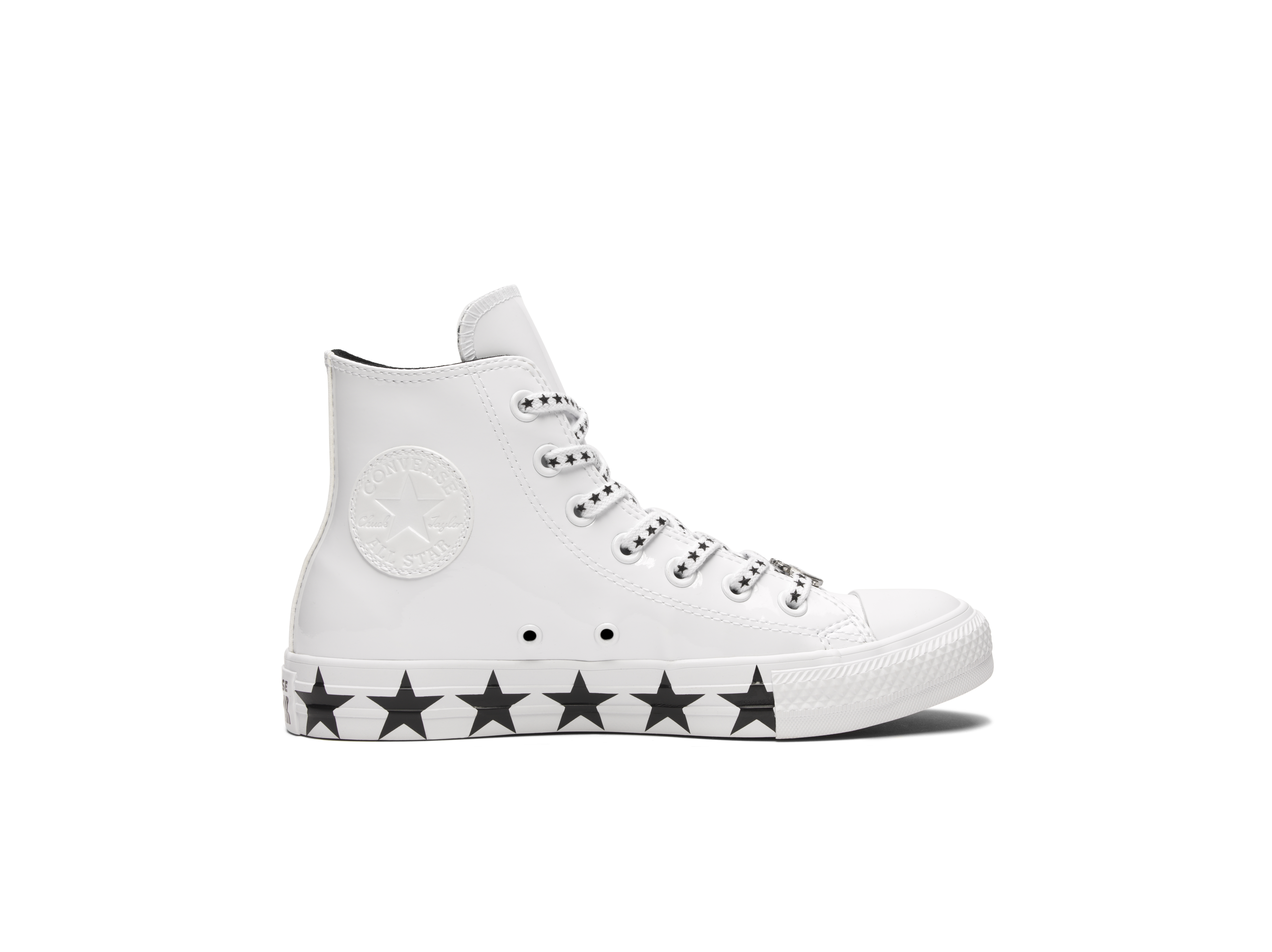 d1e436cee38 Converse x Miley Cyrus Chuck Taylor All Star Faux Patent High Top