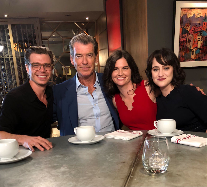"""Mrs Doubtfire Cast Reunites 25 Years Later - Pierce Brosnan, Matthew Lawrence, Lisa Jakub and Mara Wilson reunited 25 years after the film hit theaters on October 24, 2018. """"So this just happened,"""" Jakub captioned a Twitter pic of the former costars."""