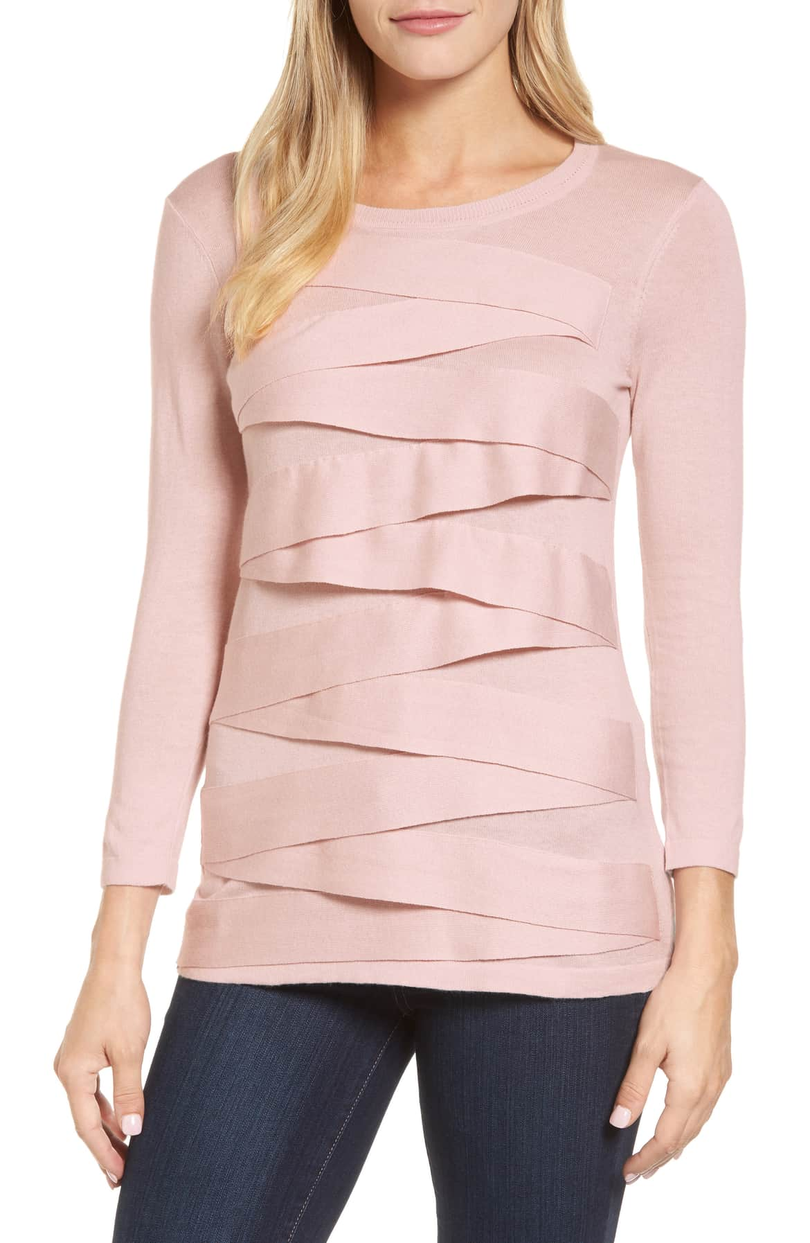 pink zig zag knit top vince camuto sale