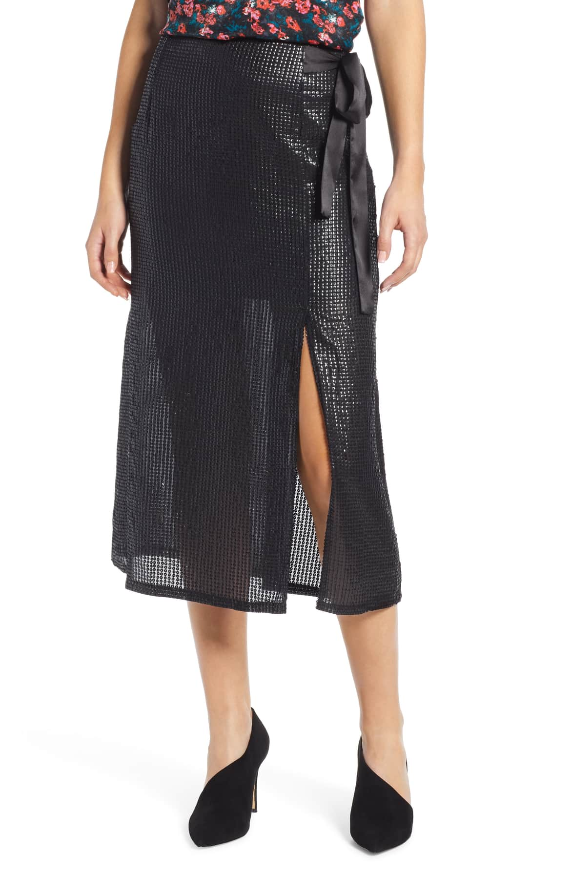 sequin skirt something navy
