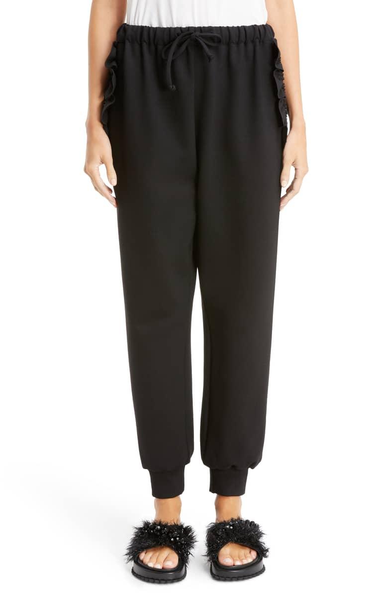 simone rocha ruffle jogging pants