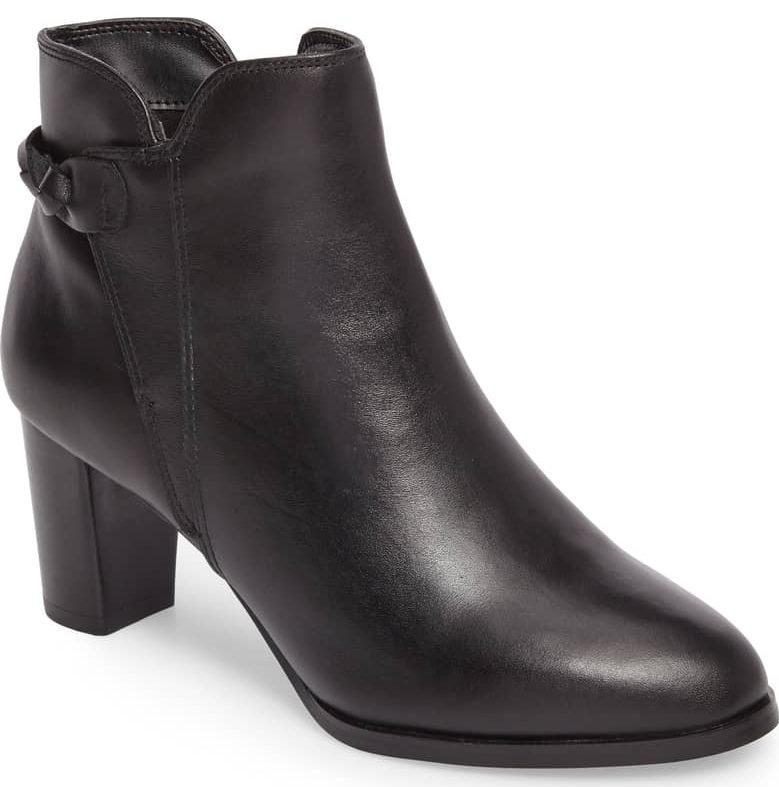 sleek black ankle boot david tate doran bootie