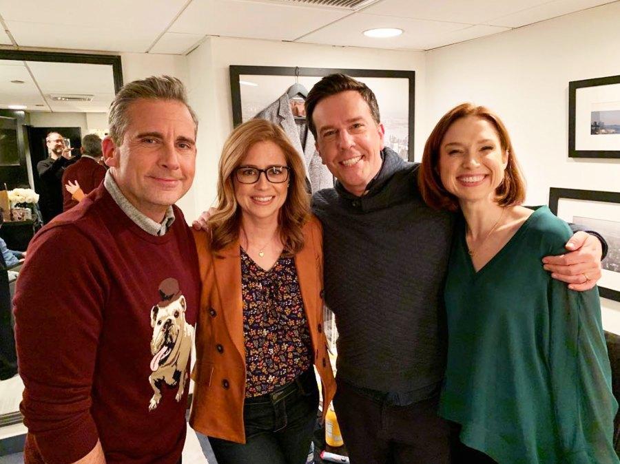 Steve Carrell Jenna Fischer Ed Helms Ellie Kemper SNL The Office Reunion