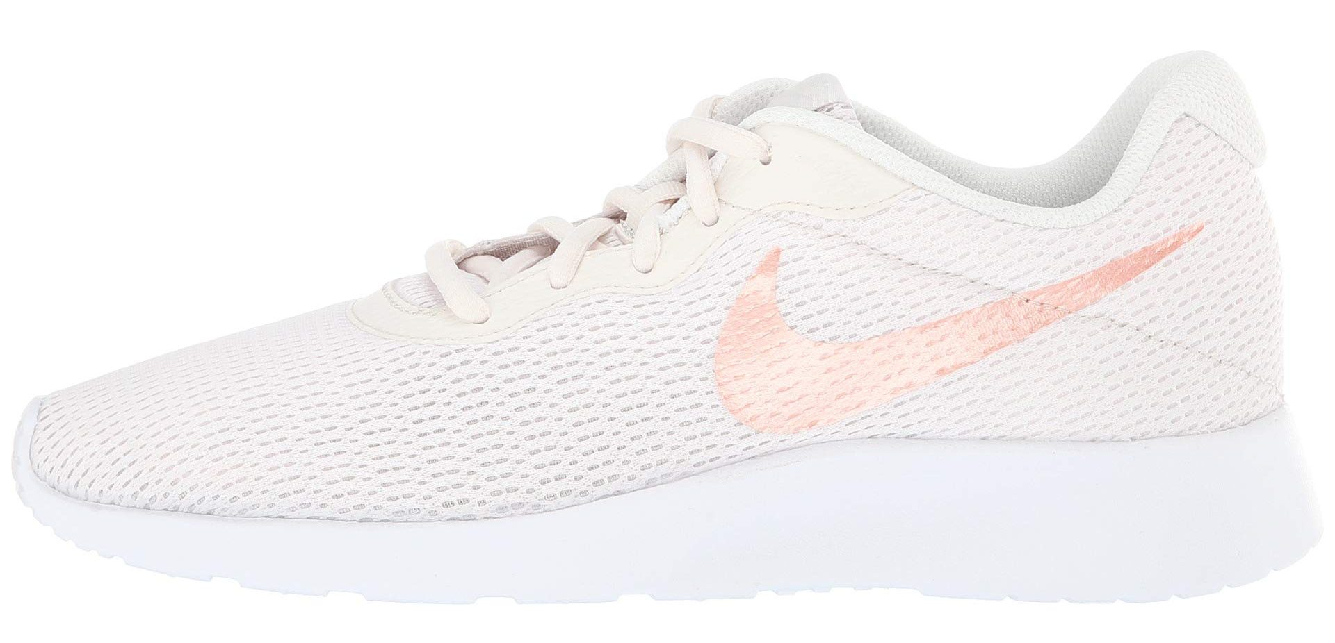 white and pink side sneaker
