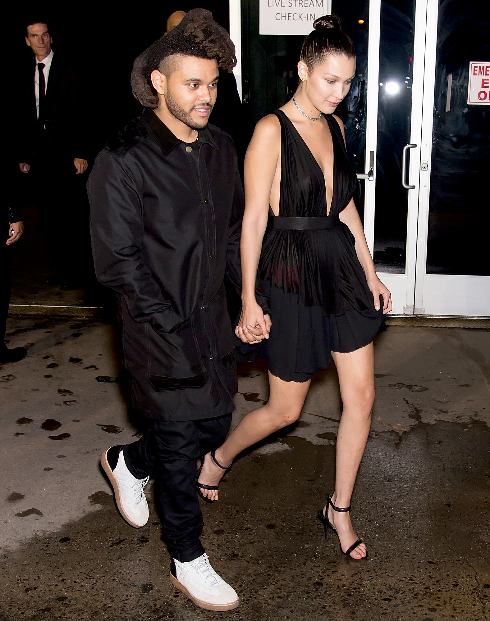 "1-Be-My-Muse-The-Weeknd-and-Bella-Hadid - Hadid and The Weeknd (real name: Abel Tesfaye) started dating after the ""Call Out My Name"" singer asked the model to pose for the artwork for his Beauty Behind the Madness album, in April 2015. The Canadian singer later admitted to Rolling Stone , ""My motive was literally to work with her."""