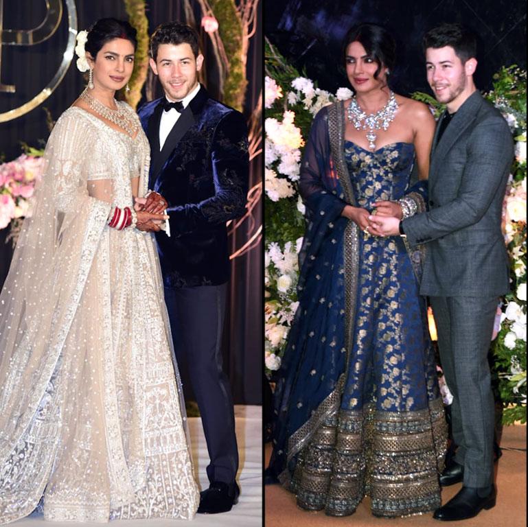 31d815ca48aa Priyanka Chopra's 3rd Wedding Reception Two-Piece Dress: Pics