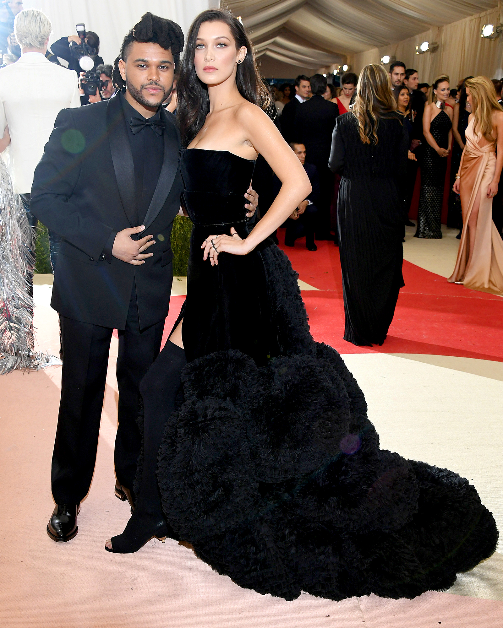 "13-Eyes-on-the-Prize-the-weeknd-bella-hadid - ""It's only a matter of time that they get back together. That has definitely not been ruled out ,"" a source told Us in February 2018 of Hadid and the R&B singer. ""They know it's all about timing. When they are both ready to get back together, they will."""