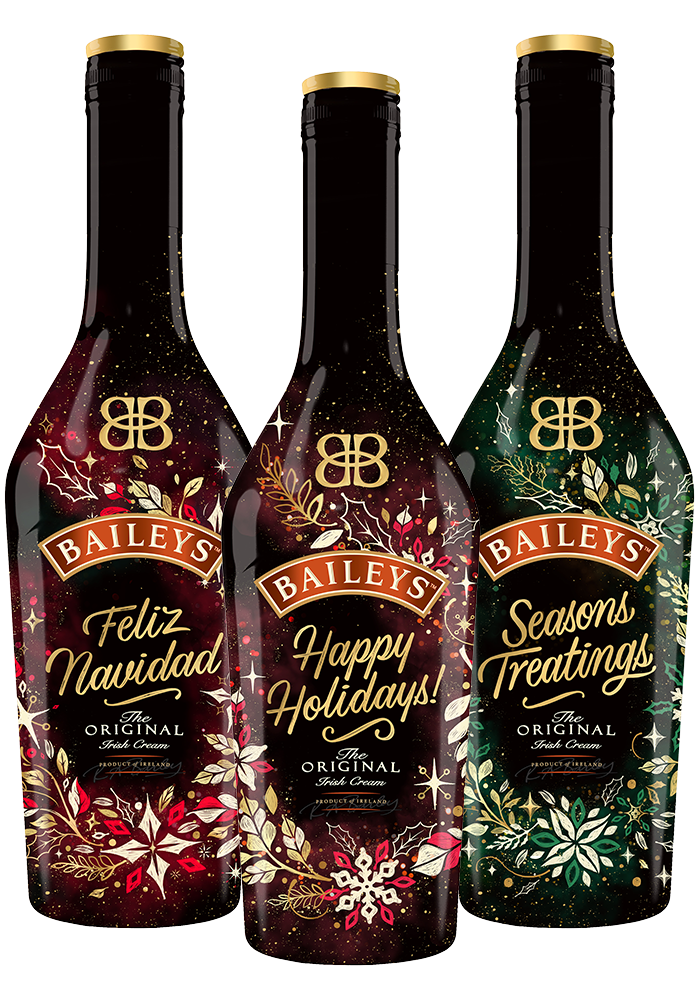 13. Baileys Festive Bottles - For the friend that loves to entertain, consider gifting them with something that's both unique and festive. These colorful limited-edition bottles feature classic Baileys Irish Cream, but they're all gussied up for the season.