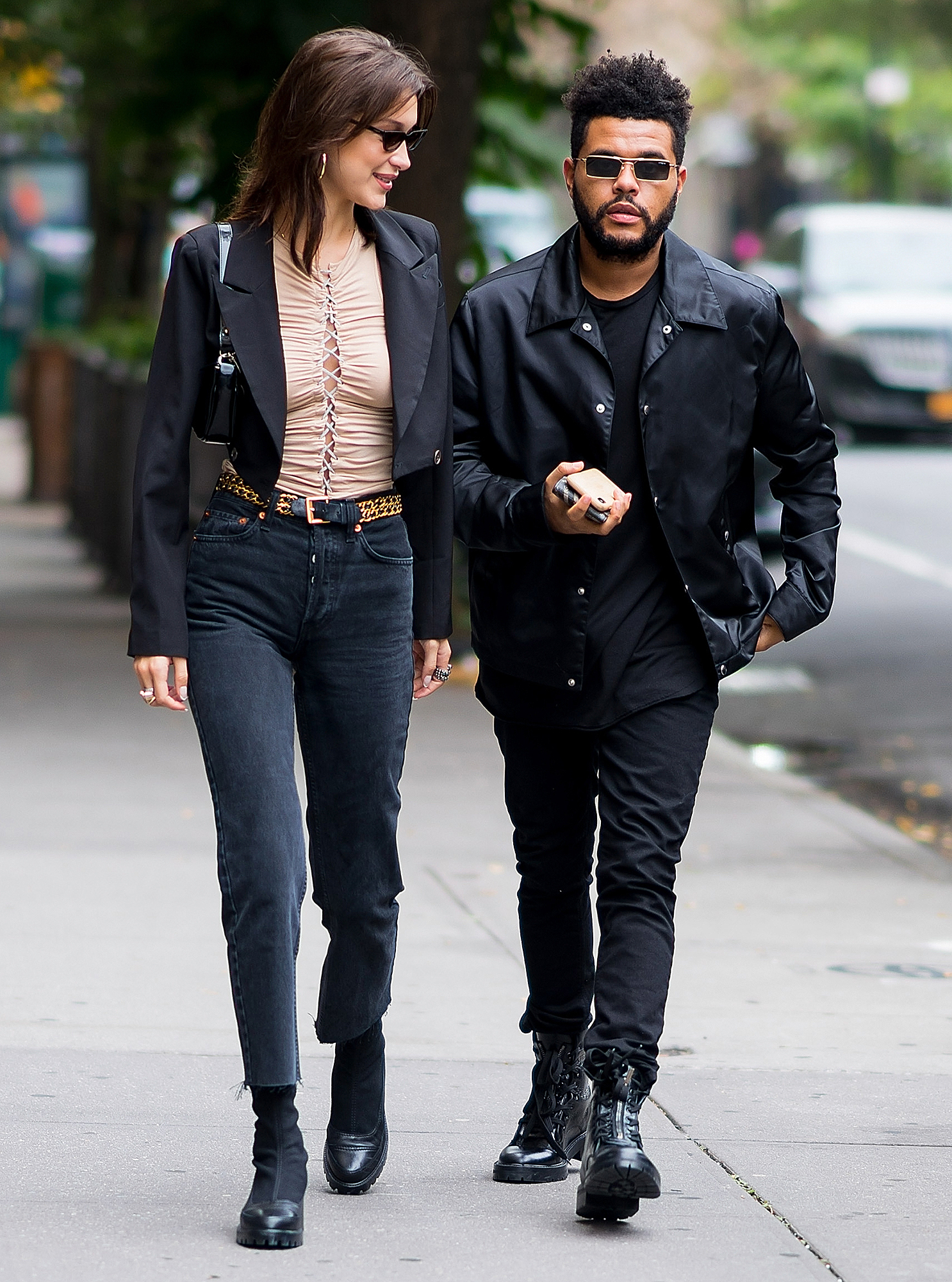 17-Bringing-Him-Home-to-Mom-the-weeknd-bella-hadid - Hadid brought the record producer to Yolanda Hadid 's rural estate in Pennsylvania in July 2018, where they documented their time together on their social media accounts.