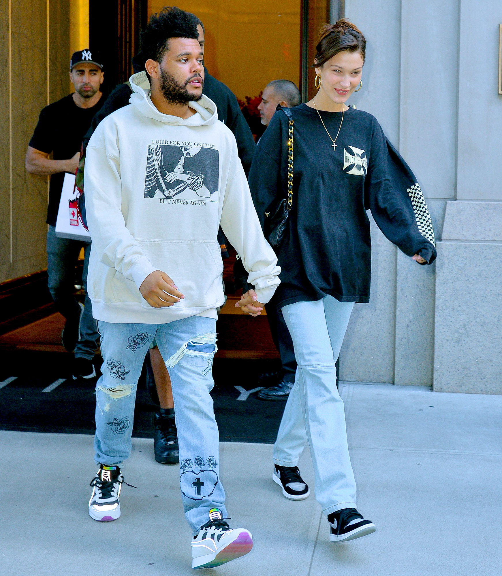 "19-Quietly-in-Love-bella-hadid-the-weeknd - Despite making it clear that they are officially an item again, a source told Us that they'd be keeping things to themselves this time around. ""When they were more public, it deteriorated their relationship,"" an insider told Us in October 2018."