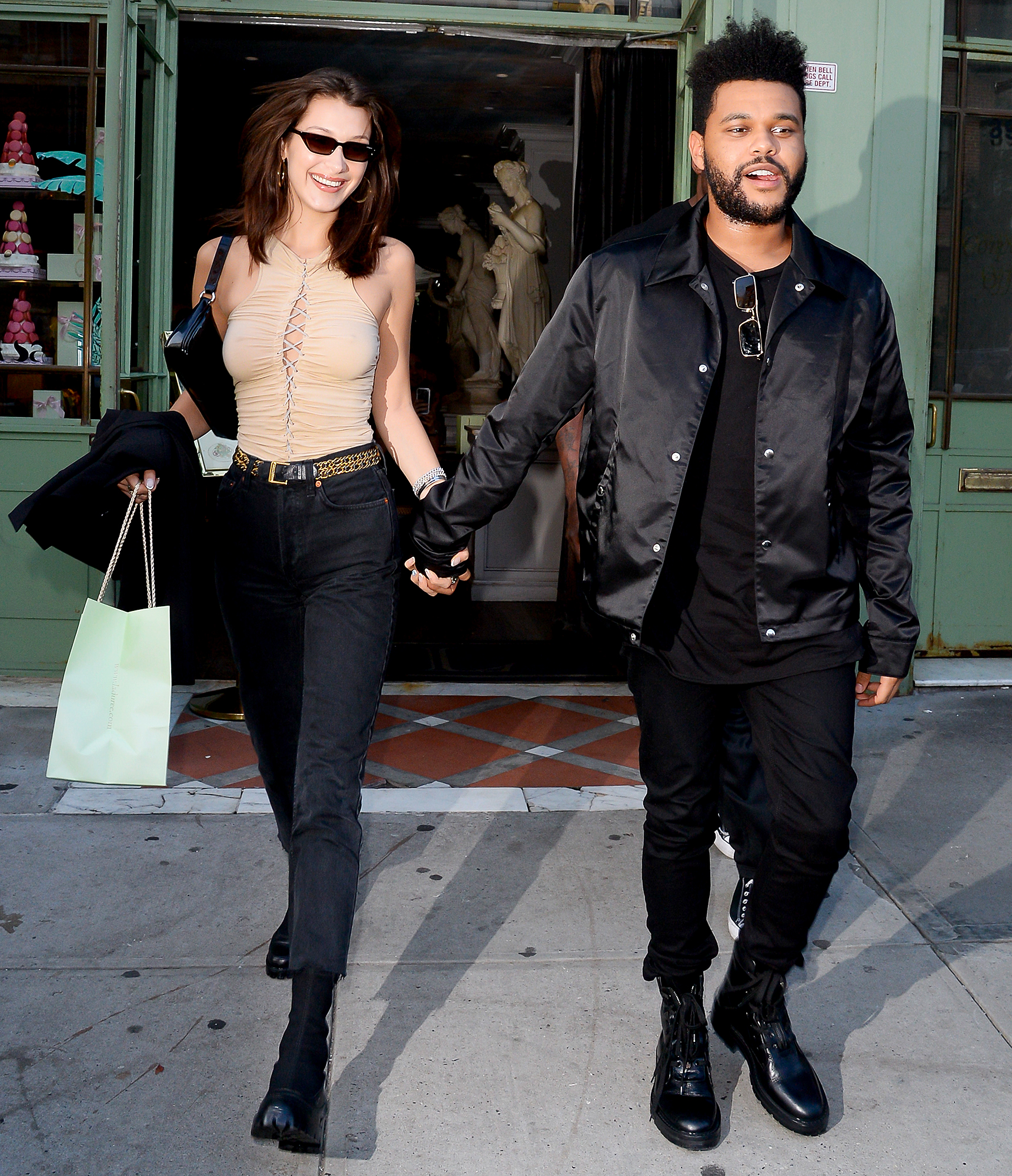 "21-Taking-the-Next-Step-bella-hadid-the-weeknd - Us Weekly exclusively revealed in November 2018 that the couple were shacking up . ""He asked her to move in,"" an insider told Us , ""and she, of course, agreed."""