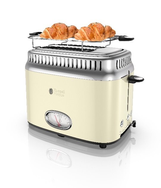 3 Russell Hobbs Retro Style 2-Slice Toaster - For the person who loves appliances, consider investing in a new toaster. Russell Hobbs — the UK brand known for its stylish design and innovation — has a whole line of retro appliances that are bound to add character to any kitchen.