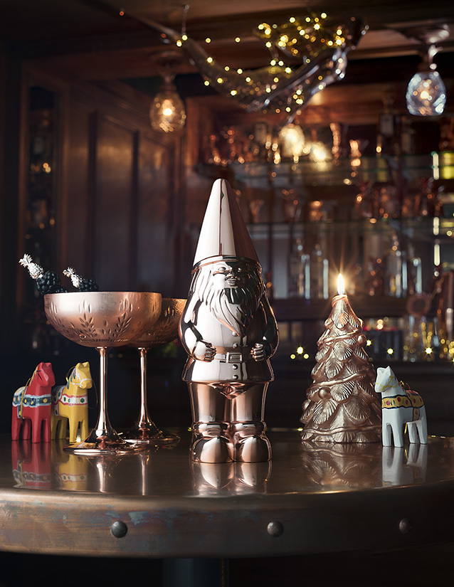 4 Felix, The Absolut Elyx Copper Gnome - This little fella, who goes by the name of Felix, is perfect for the whimsical foodie in your life. Not only will it keep your drinks cool, but it also doubles as an ornament once the imbibing is complete.