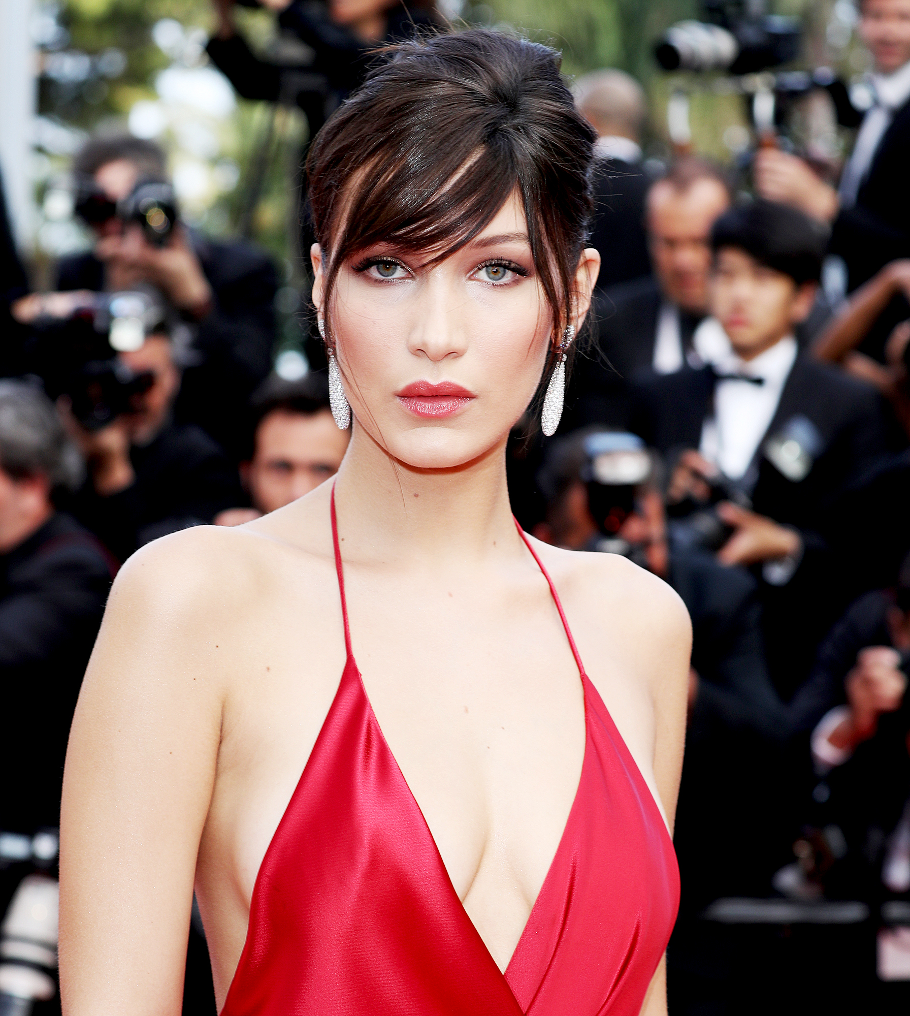 "6-Keeping-it-Real-Bella-Hadid - Hadid spoke candidly about her ""first breakup"" which she referred to as ""so public"" in February 2017. ""As an outsider, you might think I handled it so well, but it's always in your heart, and you always feel it very heavily. It'll be hard for a while. Love hurts, but you have to pull through,"" the model told Teen Vogue ."