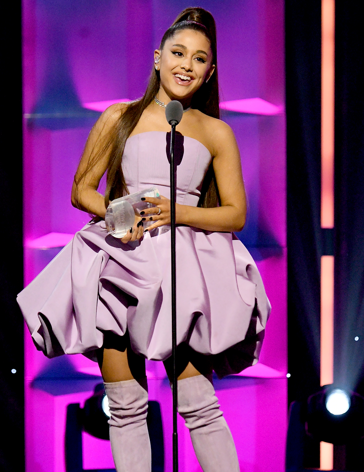 Ariana Grande Tears Up During Billboard Woman of the Year Speech
