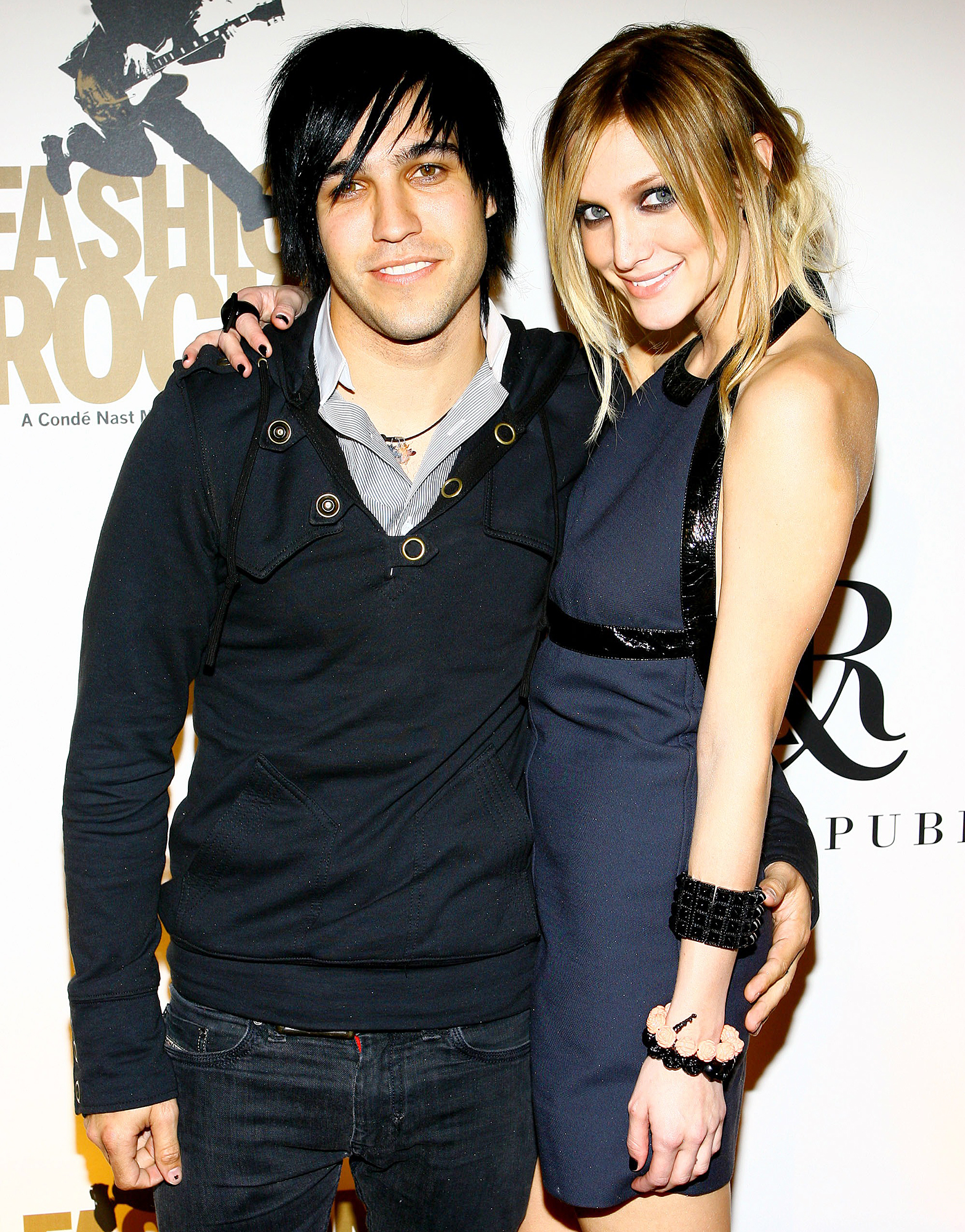 Ashlee Simpson Evan Ross Great Relationship Pete Wentz - Pete Wentz and Ashlee Simpson attend the Rock & Republic and Conde Nast Fashion Rocks Pre-Party on September 5, 2007 in New York City.