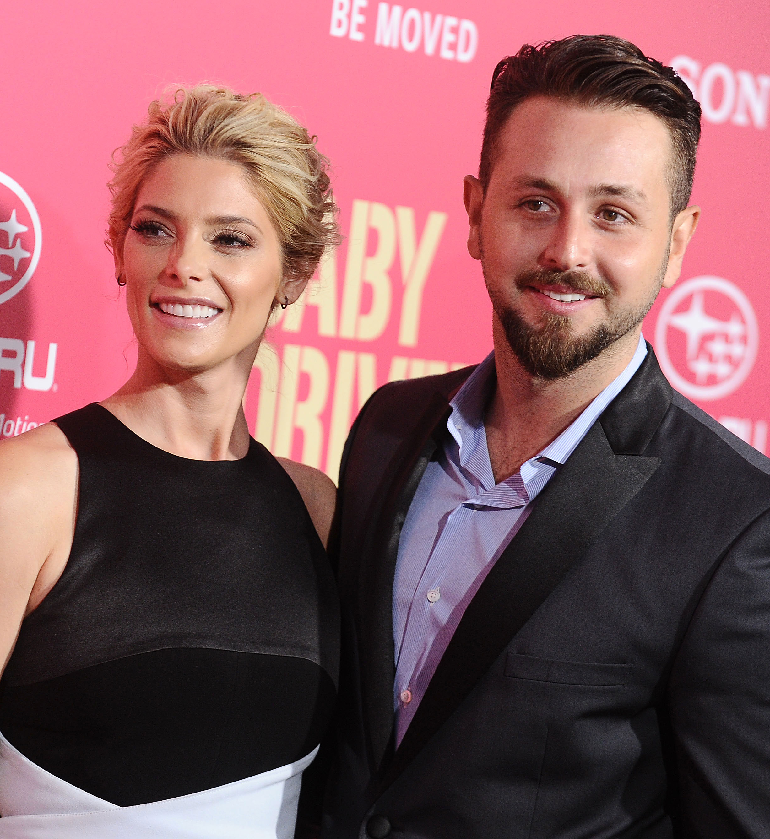 """Ashley Greene Gushes About Married Life: 'It's Been Really Wonderful' - Ashley Greene and Paul Khoury at the premiere of """"Baby Driver"""" on June 14, 2017 in Los Angeles, California. (Photo by Jason LaVeris/FilmMagic)"""