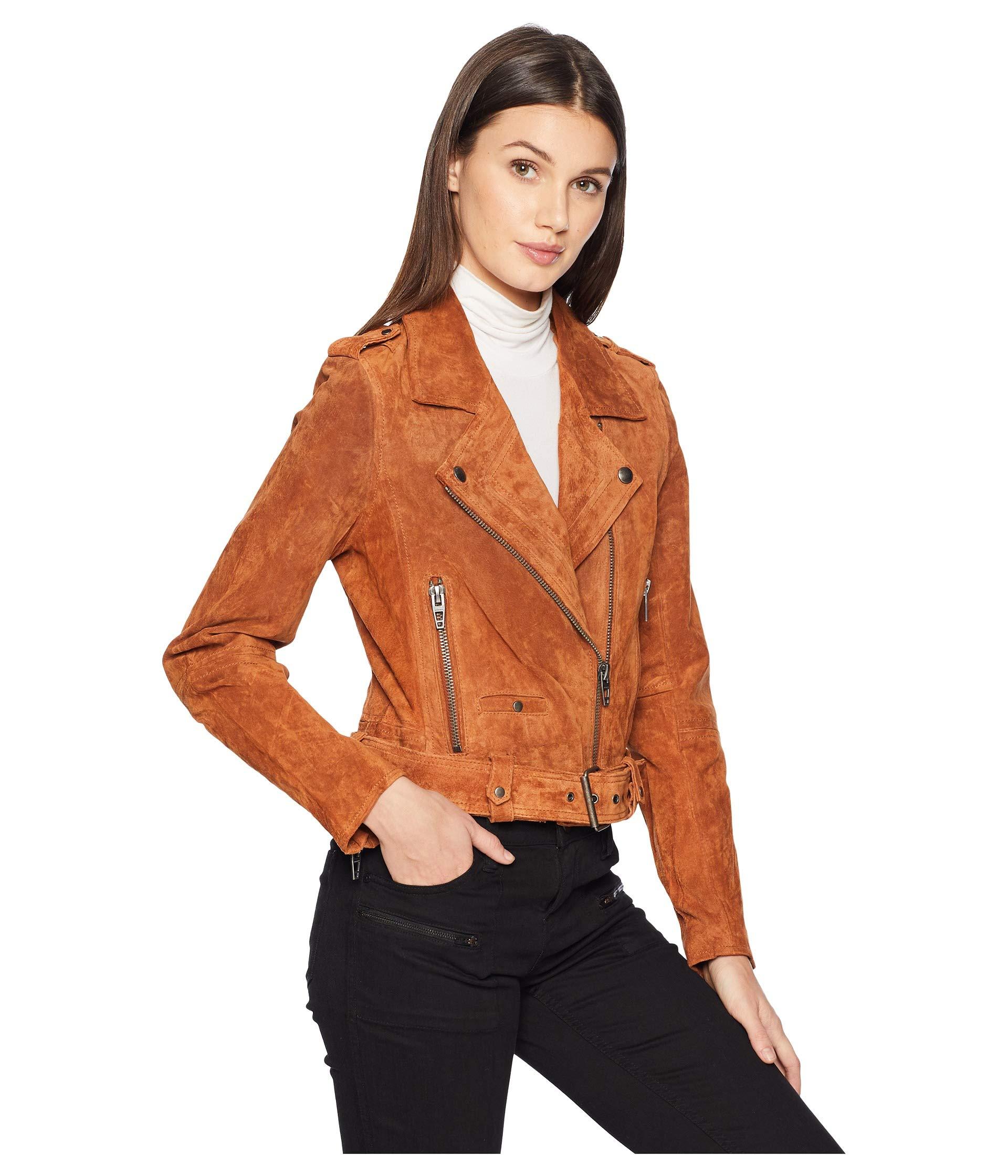 BLANKNYC Real Suede Moto Jacket