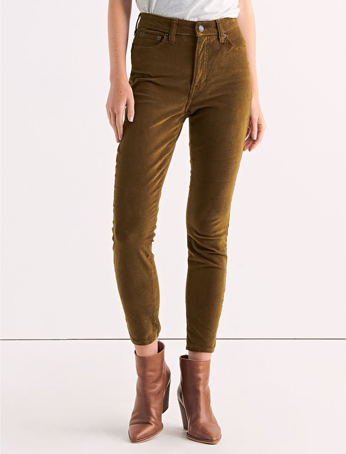 Bridgette High Rise Skinny Corduroy Pant