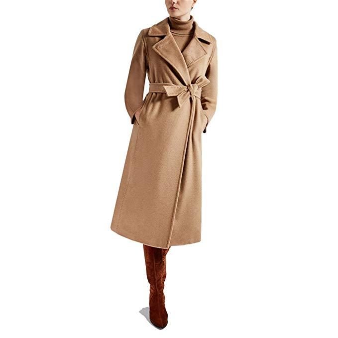 Carmonoudi 2017 New Female Pure Hand Cashmere Overcoat