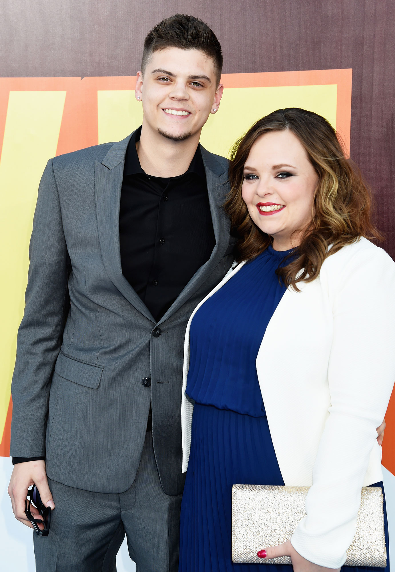 Catelynn Lowell Tyler Baltierra - TV personalities Tyler Baltierra (L) and Catelynn Lowell attend The 2015 MTV Movie Awards at Nokia Theatre L.A. Live on April 12, 2015 in Los Angeles, California.