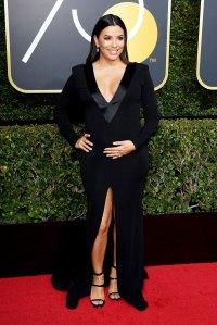 Eva Longoria Celebrities who debuted bumps at awards shows