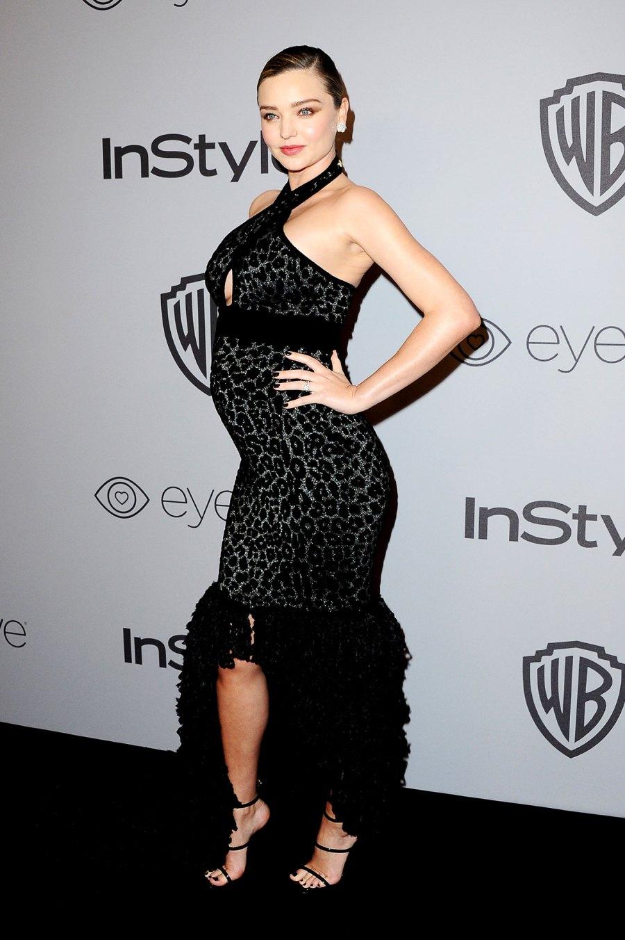 Miranda Kerr Celebrities who debuted bumps at awards shows