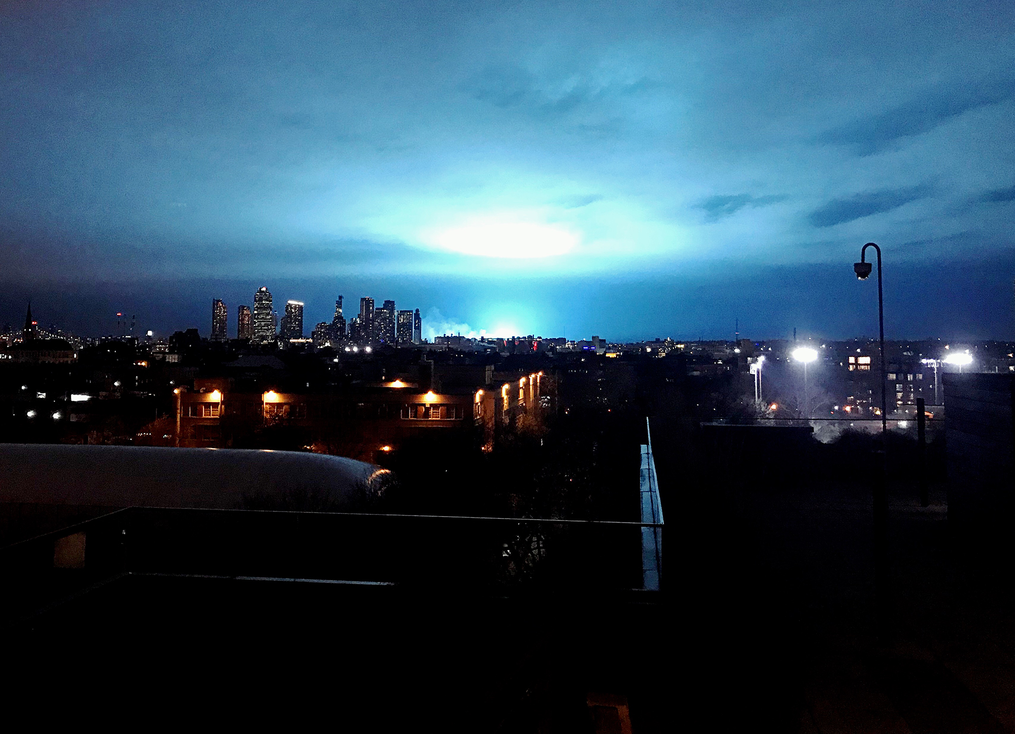 Celebs Freak Out Over Eerie Blue Light New York City Transformer Explosion