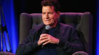 charlie sheen bomber jacket microphone chair