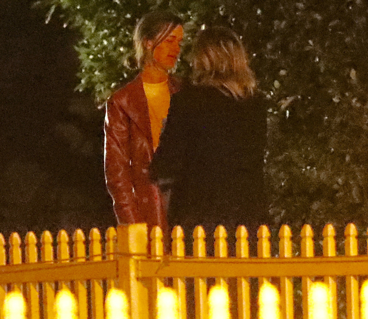 Chloe-Grace-Moretz-kissing-Kate-Harrison - Moretz and Harrison had their arms around each other on Monday evening.