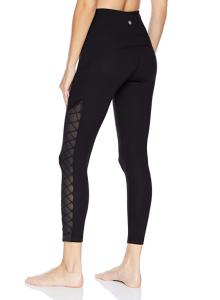 Core 10 Women's (XS-3X) Icon Series 'Lace-Up & Go' High Waist Yoga Legging (Black)