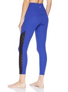Core 10 Women's (XS-3X) Icon Series 'Lace-Up & Go' High Waist Yoga Legging (Brite Blue)