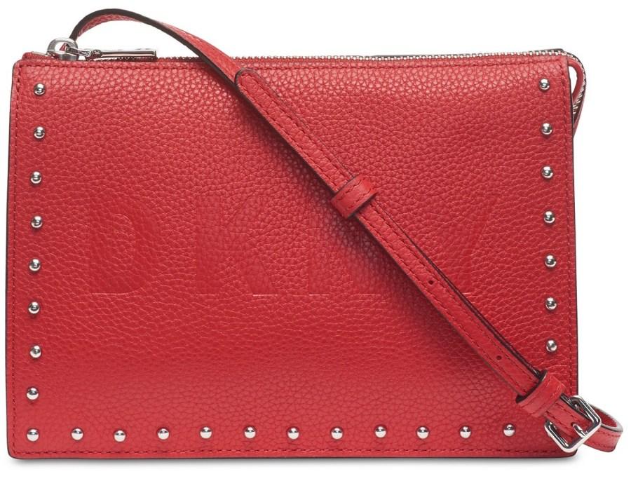 DKNY Commuter Pebble Leather Zip Logo Cross-Body Bag