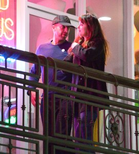 Romantic couple Dakota Johnson & Chris Martin pack on the PDA as they are seen leaving sushi park restaurant where they had their first date earlier this year.