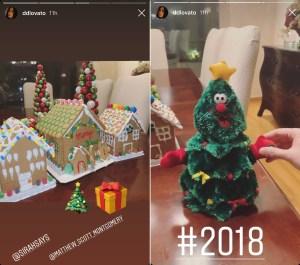 Demi Lovato's Gingerbread houses