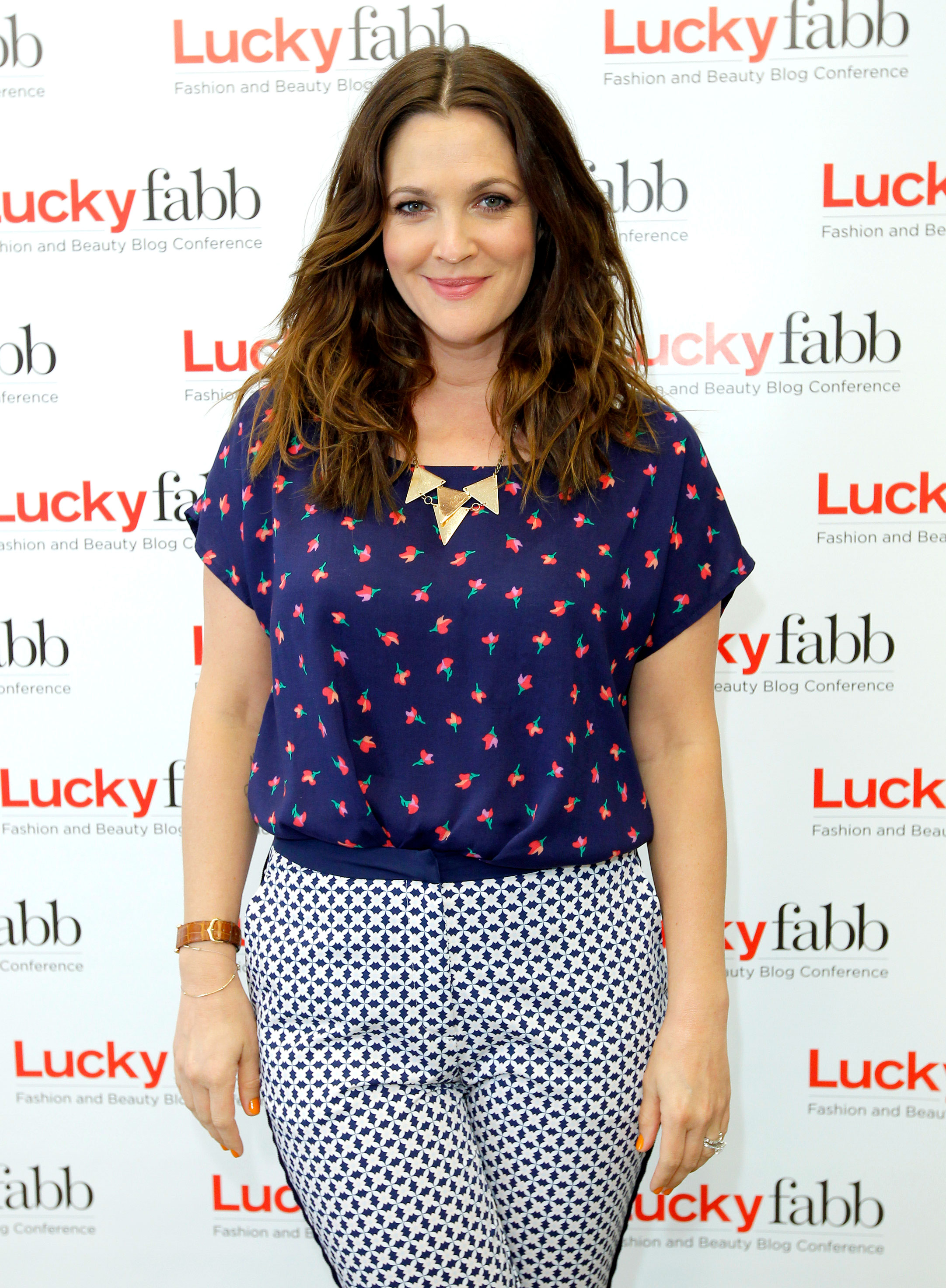 Drew Barrymore's Body Through the Years - Six months after welcoming her first daughter, Olive, Barrymore attended a Lucky magazine event in Beverly Hills.