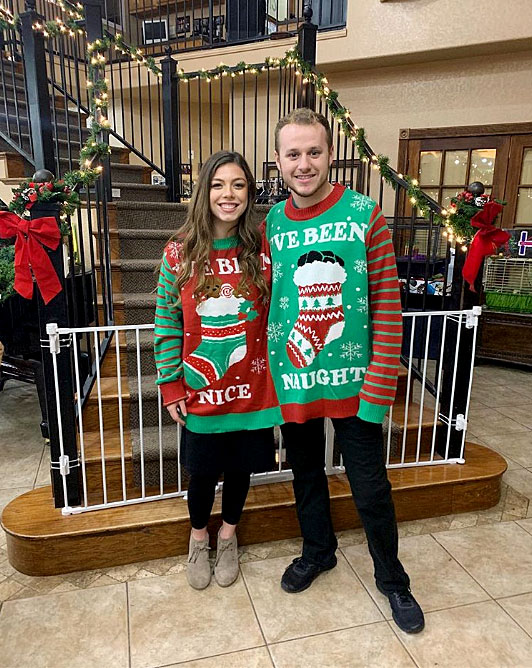 The Ugly Christmas Sweater Party.Duggar Family Has First Ugly Christmas Sweater Party Pics