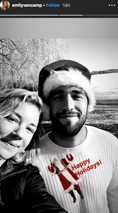 Emily VanCamp Josh Bowman Celebrate First Christmas Married Couple - Emily VanCamp and Josh Bowman celebrate Christmas.