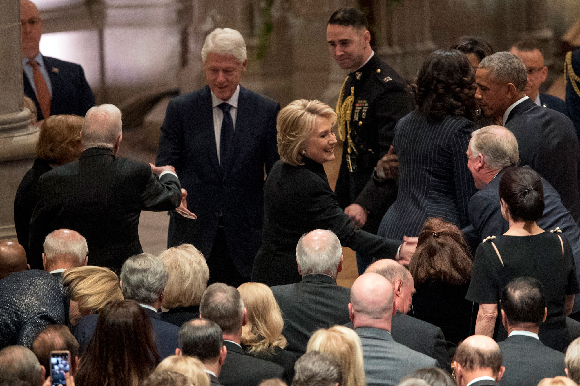 """george bush funeral - The 42nd president and the former presidential candidate released a lengthy statement after George H.W.'s passing. """"I will be forever grateful for the friendship we formed,"""" Bill's statement read in part."""