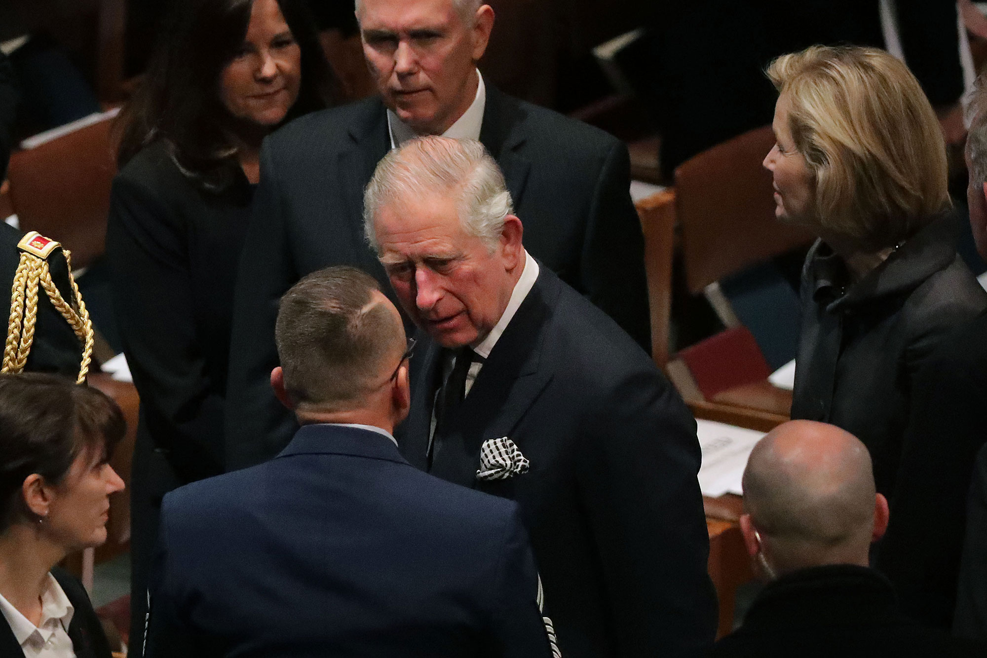 george bush funeral - The Prince of Wales flew in from London to pay his respects. His mother, Queen Elizabeth II , released a statement on Saturday, December 1 about George H.W.'s death.
