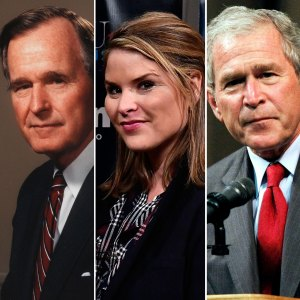 George H.W. Bush, Jenna Bush Hager, and George W. Bush